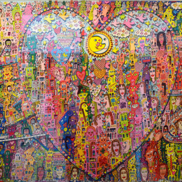 Love in the heart of the City, 3D-Grafik, James Rizzi