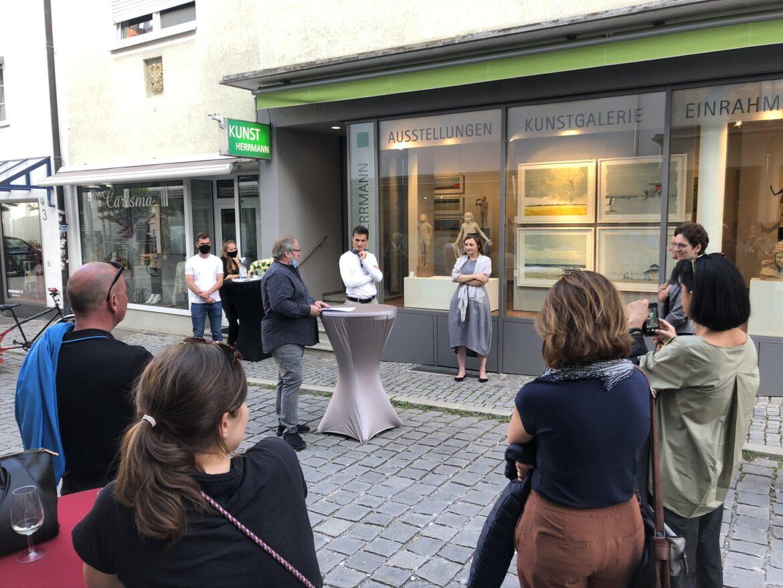 Ausstellungseröffnung mit Anastasiya Nesterova und Matthias Kostner im September 2020