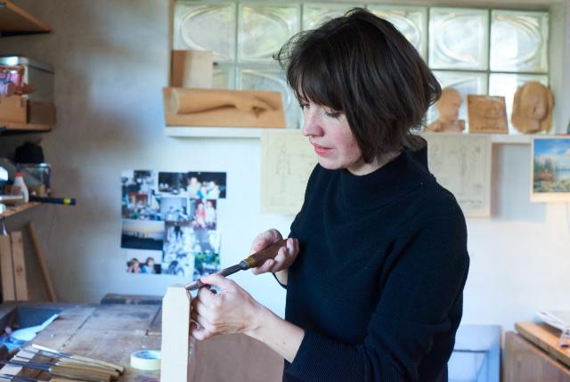 Katharina Haebler bei der Arbeit